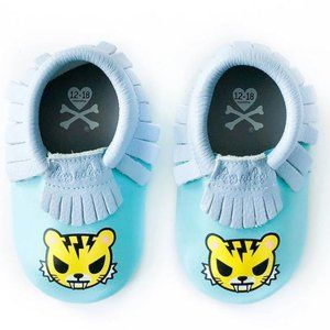 Itzy Ritzy Tokidoki Leather Mocassins Blue NIB